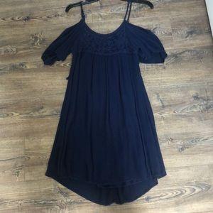 size small navy dress